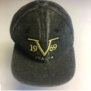 Black Denim Versace Snapback  Hat
